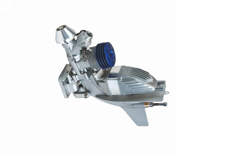 Motor termic navomodele de tip outboard: OS MAX 21 XM v.2 (incl. toba esapament)
