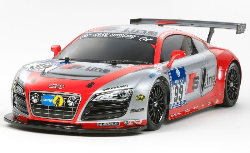 Kit automodel TAMIYA TT-01E Audi R8 LMS 24h Nürburgring