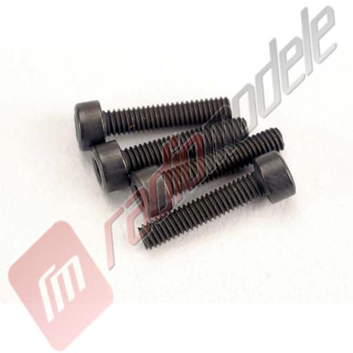 Suruburi hex cap cilindric 2,5x12mm (6buc), pentru automodele TRAXXAS