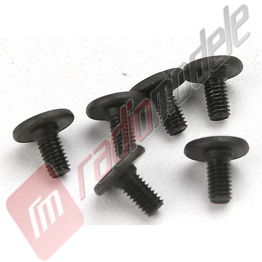 Suruburi hex cu cap plat, 3x6mm, pentru automodele TRAXXAS
