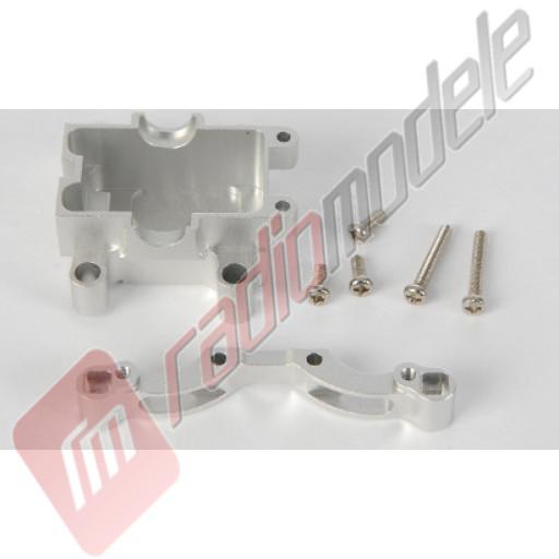 Piese tuning automodel TAMIYA sasiu TT-01: Carcasa diferential+suport amortizoare - aluminiu