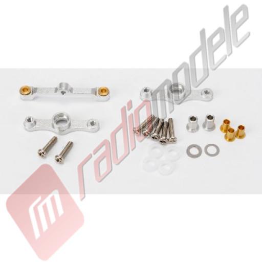 Piese tuning automodel TAMIYA sasiu TT-01: Brate directie - aluminiu