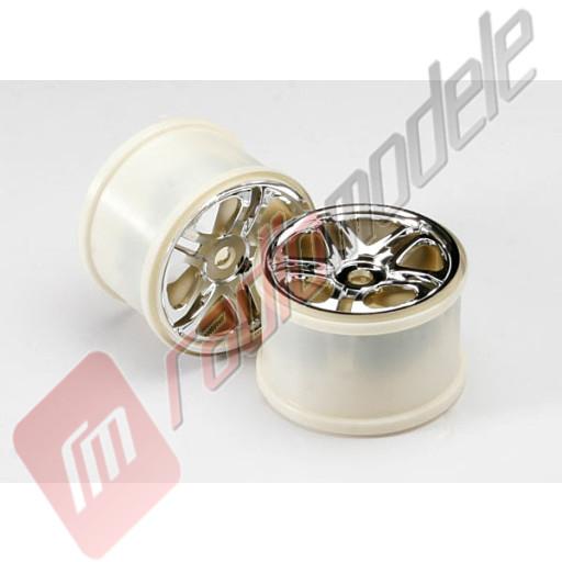 Jante cromate SS (split-spoke) cu hex 17mm, pentru automodele TRAXXAS Revo 3.3 / E-Revo / E-Maxx / T-Maxx