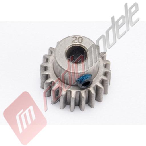 Pinion 20 dinti, 0.8p - pentru automodele TRAXXAS E-Revo BL / E-Maxx BL / Summit - ax de 5mm