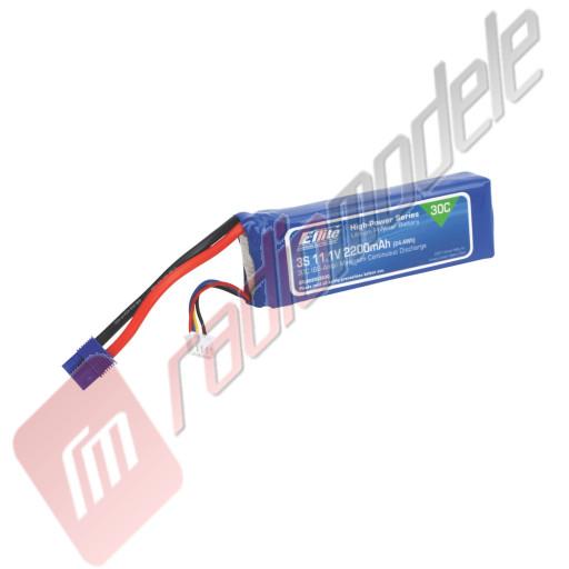 Acumulator LiPo 2200mAh 3S, 11.1V, 30C, cabluri 13AWG, mufa EC3