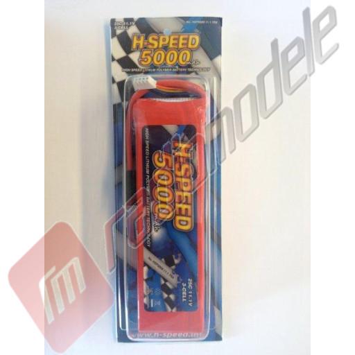 Acumulator H-Speed LiPo 3S / 5000mAh, 25c, 11.1V, mufa TRAXXAS
