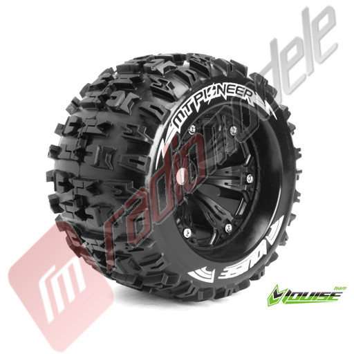 """Roti complete Louise RC MT-PIONEER pentru automodele monster truck scara 1/8 Traxxas Style Bead 3.8"""", hex 17mm, offset 0"""