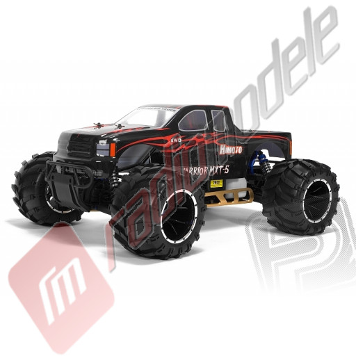 Masinuta teleghidata pe benzina de tip Monster 4x4 - Himoto MEGAP MX5, RTR, scara 1/5, NEGRU