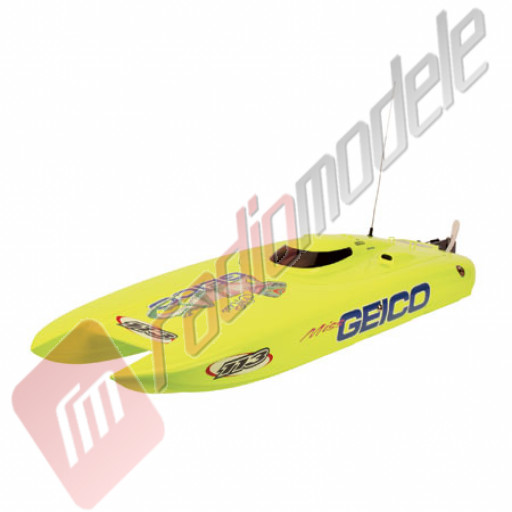 Miss Geico - navomodel brushless de tip catamaran, radio 2.4GHz, RTR