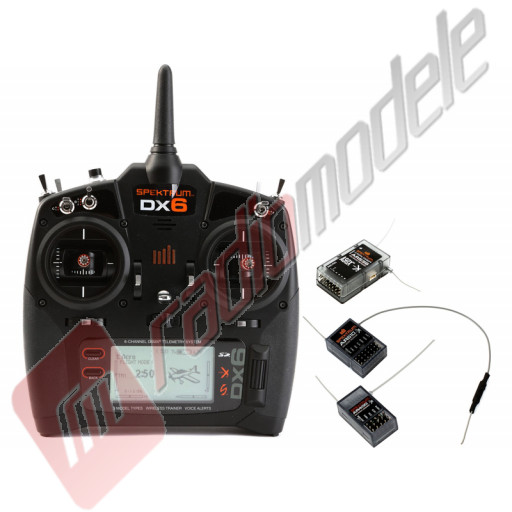Radiocomanda Spektrum DX6 DSMX - include 3 x receiver AR610, AR 636 si AR400