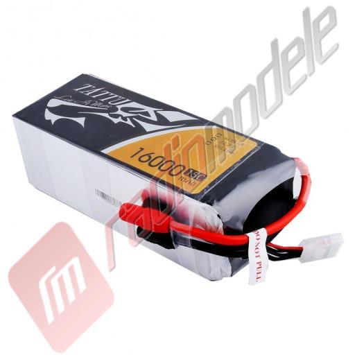 Acumulator TATTU LiPo 6s: 16000mAh 22.2V 15C, mufa AS150+XT150