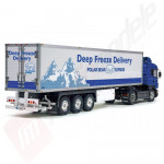 "Remorca pentru camion Tamiya 1/14: 3-axle refrigerated trailer ""deep freeze"""