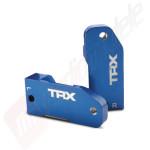 Port-fuzeta (caster block) aluminiu albastru pentru automodele Traxxas 2WD