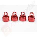 Capete (capace) amortizoare aluminiu rosu TRAXXAS
