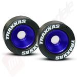 Roti  wheelie bar complete (albastru-anodizat)(2buc), pentru automodele TRAXXAS 1/10