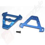 Bulkhead tie bars, front & rear (blue-anodized aluminum), pentru automodele TRAXXAS 1/10