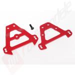 Bulkhead tie bars, front & rear (red-anodized aluminum), pentru automodele TRAXXAS 1/10