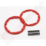Sidewall protector, beadlock style (red) (2), pentru automodele TRAXXAS 1/10