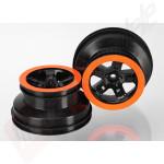 Jante SCT negre cu margine portocalie (profil dublu 2.2/3.0) automodele TRAXXAS Slash