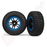 Roti complete, jante SCT split-spoke blue cu anvelope BFGoodrich® Mud-Terrain™ automodele TRAXXAS Slash