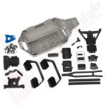 Kit conversie sasiu LCG (centru de greutate coborat), pentru automodel Traxxas Slash 4x4