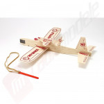 "Kit de asamblare planor balsa ""747 shuttle"" - balsa, 305mm, catapulta inclusa"