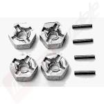 Set adaptori roti tip pin pentru automodel TAMIYA: TT-01