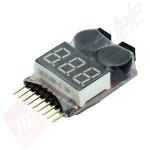LiPo Alarm / LiPo Buzzer - Voltmetru si alarma LiPo 1-8 celule Yuki Model in tub termocontractor