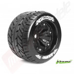 "Roti complete Louise RC MT-ROCKET pentru automodele monster truck scara 1/8 Traxxas Style Bead 3.8"", hex 17mm, offset 0"