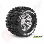 """Roti complete Louise RC MT-PIONEER chrome pentru automodele monster truck scara 1/8 Traxxas Style Bead 3.8"""", offset 1/2, hex 17mm"""