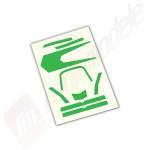 Sticker, verde, pentru drona Traxxas Aton