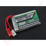 Acumulator 750mAh 3.7V LiPo, 35-70C - pentru LaTrax Alias, Walkera V120D02S/QR, Infra X/QR W100S