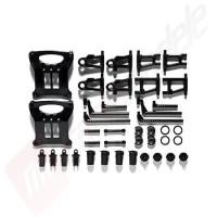 TAMIYA TT01 B parts - Set bascule, amortizoare, skidplate si bodypost pentru sasiu Tamiya TT-01