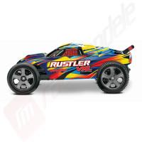 Automodel off-road TRAXXAS Rustler VXL cu radio TQi 2.4Ghz TSM, WATERPROOF, 100Km/h!