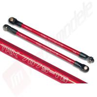 Push rod, aluminiu, rosii, pentru automodele Traxxas Revo 3.3, E-Revo