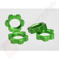 Set piulite 17mm aluminiu (verde-anodizat), pentru automodele TRAXXAS 1/10