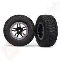 Roti complete, jante SCT split-spoke black cu anvelope BFGoodrich® Mud-Terrain™ automodele TRAXXAS Slash