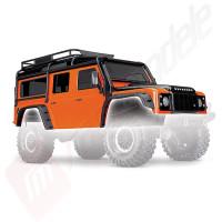Caroserie Land Rover Defender PORTOCALIE (vopsita, asamblata) pentru automodele TRAXXAS TRX-4