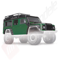 Caroserie Land Rover Defender VERDE (vopsita, asamblata) pentru automodele TRAXXAS TRX-4