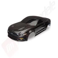 Caroserie Ford Mustang neagra ( vopsita, abtibilduri aplicate ) pentru automodele TRAXXAS 4Tec 2.0