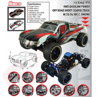 Automodel Short Course pe benzina, off-road, 4x4, RTR, scara 1/5