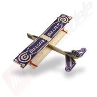 "Kit de asamblare avion balsa biplan ""Bullseye"""