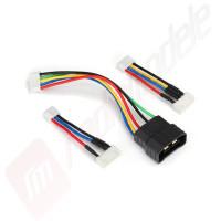 Cablu adaptor citire parametri acumulatori LiPo 2S, 3S si 4S cu conector TRAXXAS ID