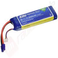 Acumulator EFlite LiPo 3200mAh 3S 11.1V 30C, mufa EC3