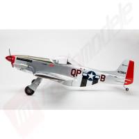 Avion teleghidat benzina P-51 Mustang S 8cc BNF Trainer cu tehnologie SAFE