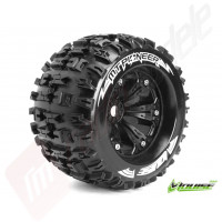 "Roti complete Louise RC MT-PIONEER black pentru automodele monster truck scara 1/8 Traxxas Style Bead 3.8"", 1/2 offset, hex 17mm"