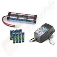 Pachet charger + acumulator + baterii