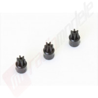Set 3 bucati pinioane 6 dinti pentru automodel Kyosho Mini-Z MR03