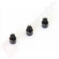 Set 3 bucati pinioane 7 dinti pentru automodel Kyosho Mini-Z MR03