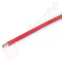 Cablu siliconic - 1m, rosu, 2.5mm2, diametru exterior 3mm